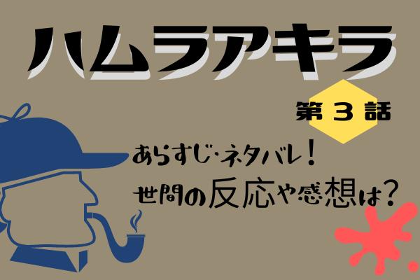 【ハムラアキラ】第3話のあらすじ・ネタバレ感想!わたしの調査に手加減はない