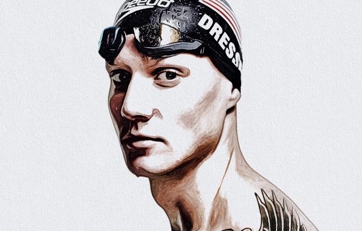 【画像】ケーレブ・ドレッセルは幼馴染の彼女と結婚!美人嫁も元水泳選手だった